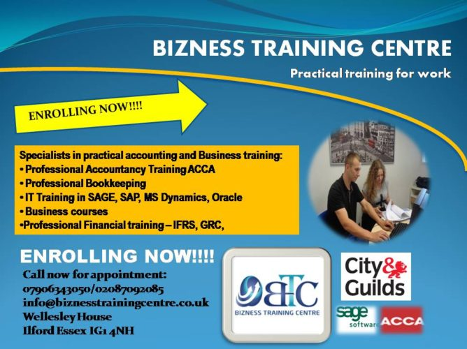 bookkeeping or accounting course now - Bizness Training Centre